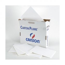 CARTON PLUMA CANSON MOUSSE BLANCO 5MM. 70X100CM.