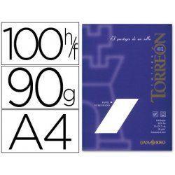 PAPEL VERJURADO TORREON A4 BLANCO P/100