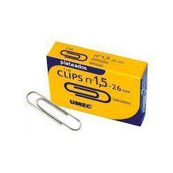 CLIPS PLATEADOS UMEC Nº 1,5 26MM C/100