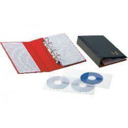 ARCHIVADOR CD/DVD PARDO CAPACIDAD 20 DISCOS