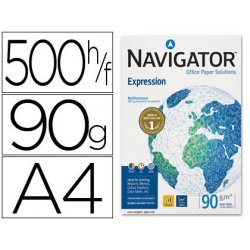 PAPEL MULTIFUNCION NAVIGATOR A4 90GR. P/500H.