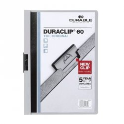 DOSSIER CON CLIP METALICO DURABLE 60H. GRIS