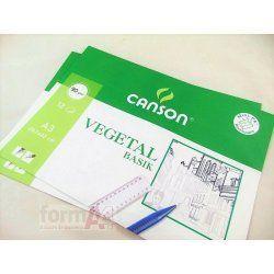 PAPEL VEGETAL CANSON A3 P/ 12H.