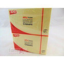 BLOC NOTAS AMARILLAS APLI 76X125MM.