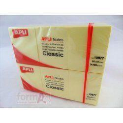 BLOC NOTAS AMARILLAS APLI 40X50MM. P/3