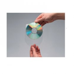 FUNDA CD/DVD ADHESIVA CON SOLAPA Q-CONNECT P/10