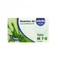 GUANTE DE NITRILO SIN POLVO AZUL TALLA M C/100