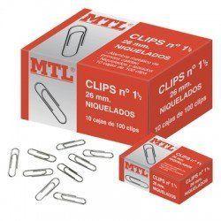 CLIPS NIQUELADOS MTL Nº 1,5 C/100