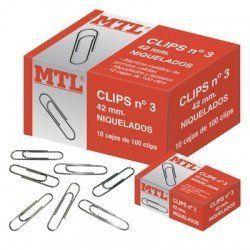 CLIPS NIQUELADOS MTL Nº 3 42MM C/100
