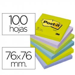 BLOC NOTAS POST-IT 76X76 MM. FANTASIA P/6