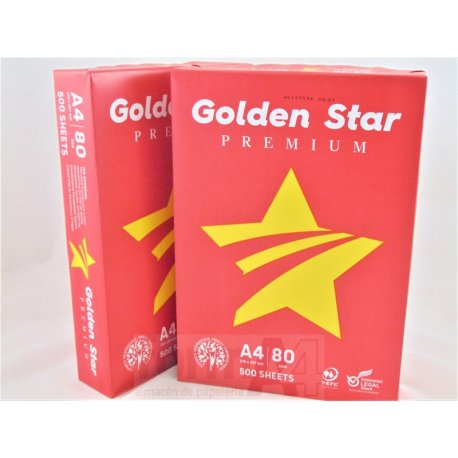 PAPEL MULTIF. GOLDEN STAR PREMIUM A4 80GR. P/500H