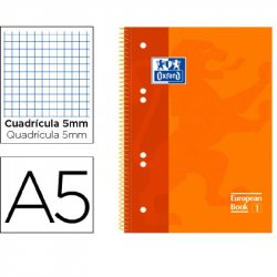 BLOC MICROP. OXFORD A5+ TAPA EXTRA120H. 5X5MM