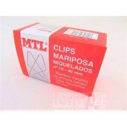 CLIPS MARIPOSA MTL Nº 10 40MM C/50