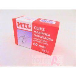CLIPS MARIPOSA MTL Nº 20 60MM C/25