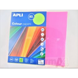 PAPEL MULTIF. APLI A4 80GR. COLORES FLUOR P/100H
