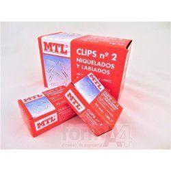 CLIPS NIQUELADOS MTL Nº 2 32MM C/100
