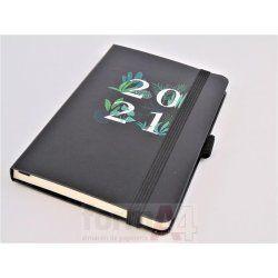 AGENDA COSIDA RIGIDA PASSPORT 90X140 S/V BLACK JUN